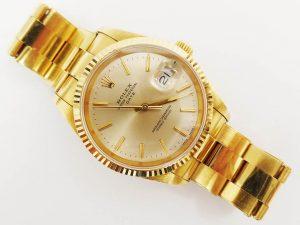 Orologi all'asta - Orologio (marchiato Rolex) in oro giallo con cinturino in oro giallo
