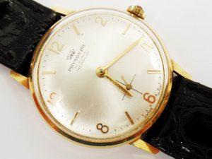 Lotto 98211 Orologio marchiato Pryngeps 17 Rubis Incabloc Swiss Made in oro giallo con cinturino in pelle Base d'asta: 210,00 € - Cauzione: 21,00 €