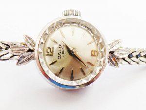 Orologi all'asta - Orologio in oro bianco con bracciale in oro bianco marchiato Dalim 17 Rubis